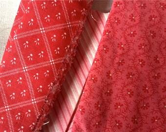 19th C Fabric Scraps