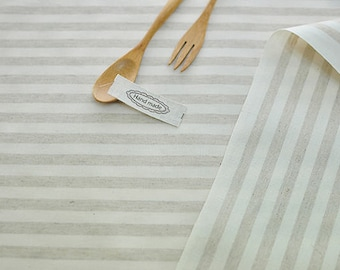Laminated Linen Fabric - 1 cm Stripe - By the Yard 94553
