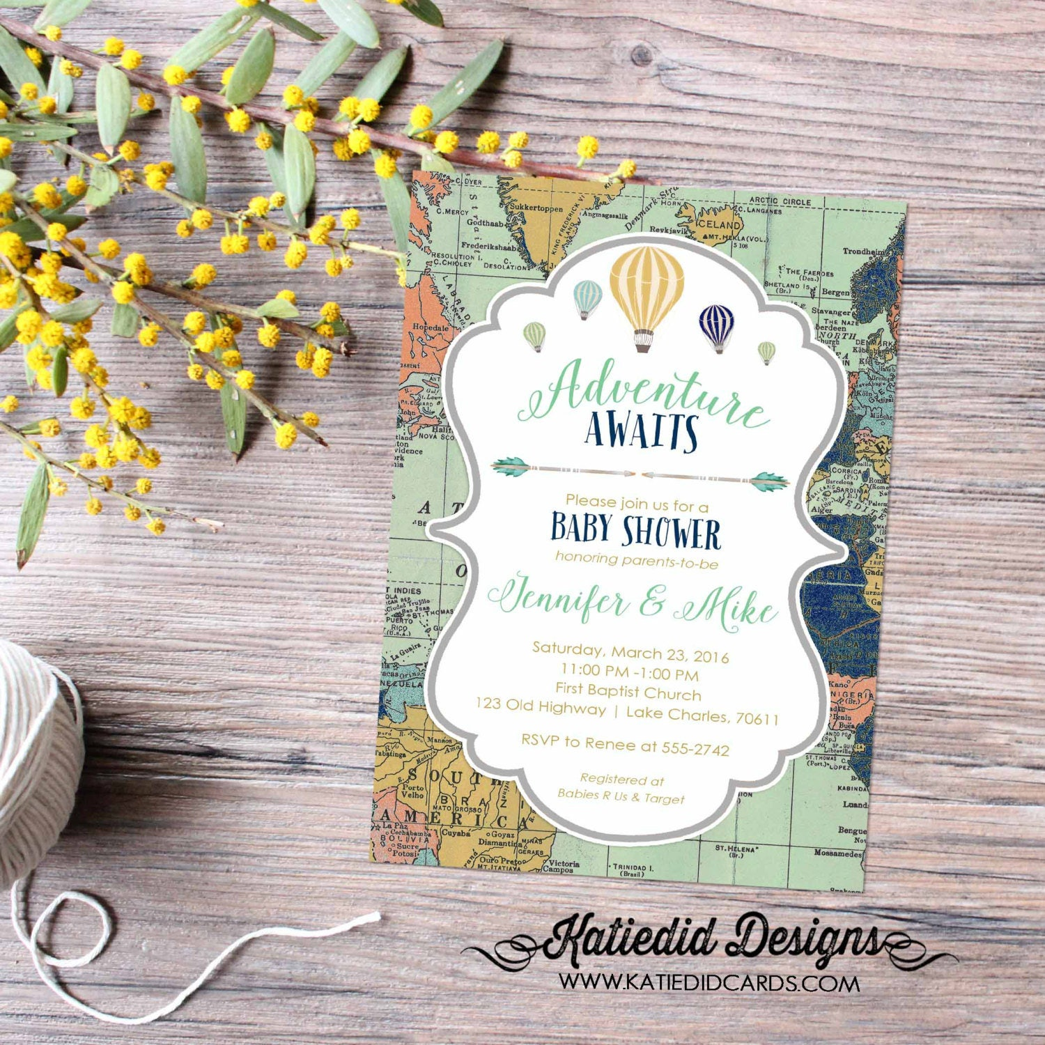 Travel themed baby shower invitation hot air balloon adventure travel themed baby shower invitation hot air balloon adventure awaits tribal world map birthday luncheon brunch lgbt 1466 katiedid designs filmwisefo