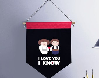 Star Wars Pennant - I LOVE YOU I KNOW