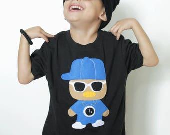 Rad Rapper - Clock - Kids T-Shirt [BLACK]