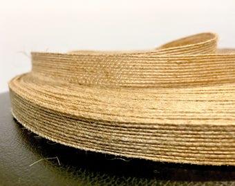Natural Jute Ribbon Large 100 Yard Roll, 5/8 inch width - burlap colored ribbon, twine like ribbon, rustic favor, twine decor burlap decor