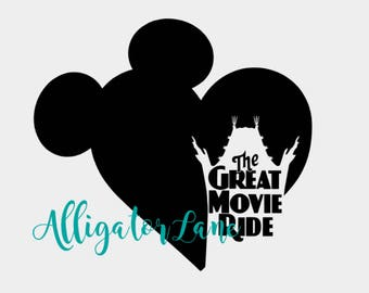 GMR In My Heart - GMR Fans Decal celebrating love for the Great Movie Ride - any color