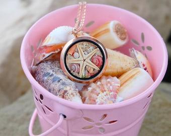 Sea Necklace, Beach Jewelry, Real Seashells Necklace, Real Coral Necklace, Mermaid Necklace, Real Starfish, Sea Necklace.
