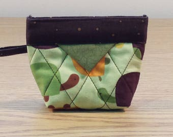 Quilted Snap Bag (SB207) Big Turtles