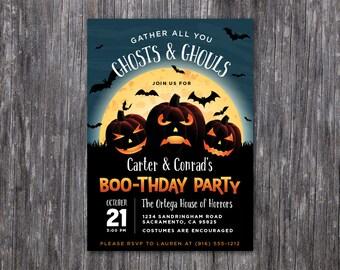Halloween Birthday Boo-thday Costume Party Invitation