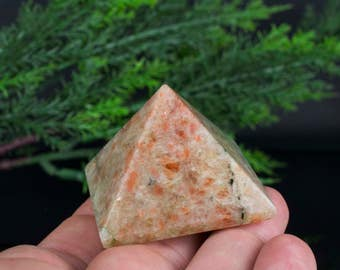 Pyramid Shaped Natural Sunstone