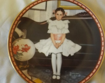 Bradford 1986 Sitting Pretty Norman Rockwell Collector Plate CL34-3