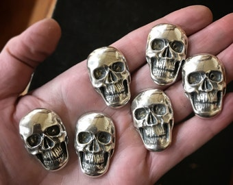 Sterling Silver Skull Cabochon Handmade USA Sterling Silver Jewelry Supplies