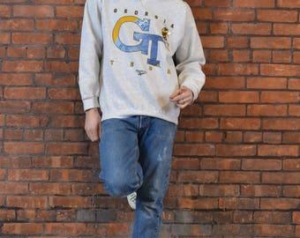 Baller Status Vintage 90's Georgia Tech Reebok Crewneck Sweatshirt