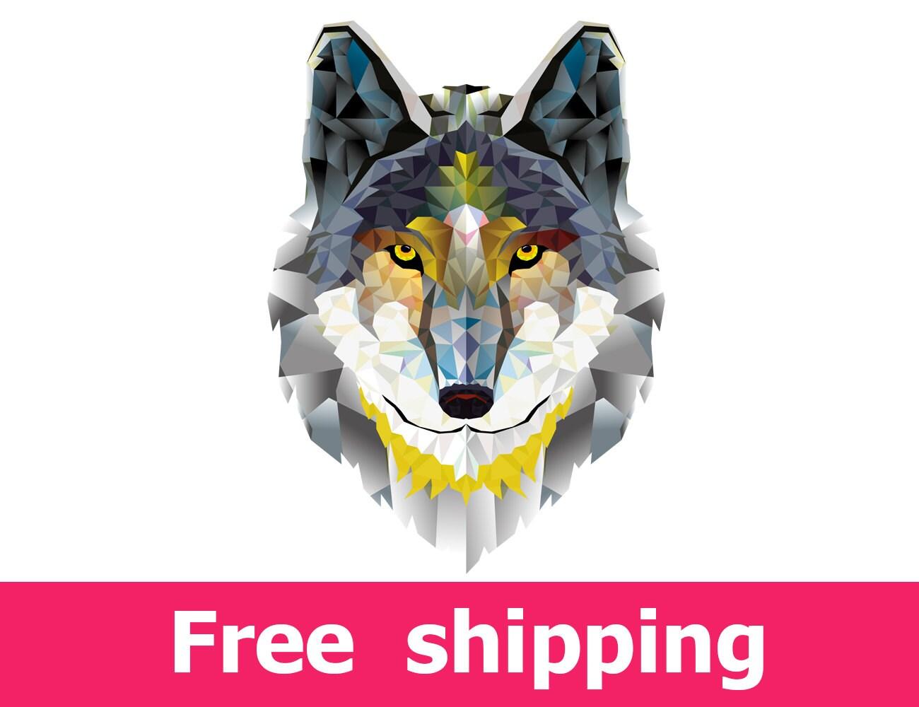 geometric wall decal wolf geometric decal fox geometric home