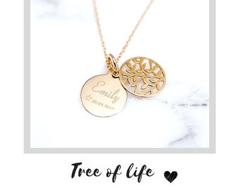 Name Chain ~ Tree of Life ~ 925 silver ~ Rose gold