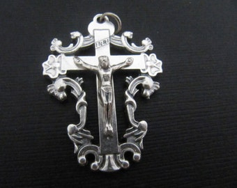 Beautiful Italian Made Ornate Rosary Crucifix