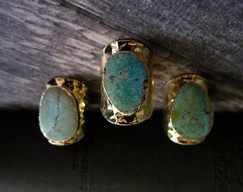 Turquoise Ring,Raw Stone Ring,Turquoise Cigar Ring,Large Turquoise Ring,Gold Turquoise Ring,Cigar Ring,Large Turquoise Ring,Boho Turquoise