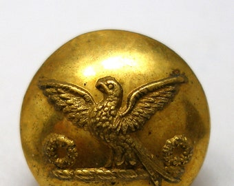 "1800s Bird BUTTON, Antique Victorian Livery metal button 9/16"". Made in London."