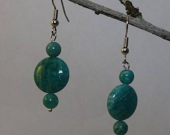 Amazonite Hook Earrings