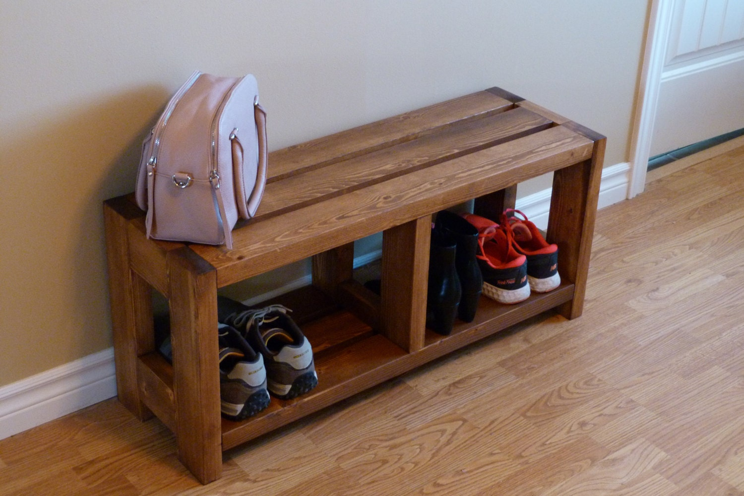 ?zoom & Entryway Rustic Shoe Bench Shoe Storage Shoe Organizer Shoe