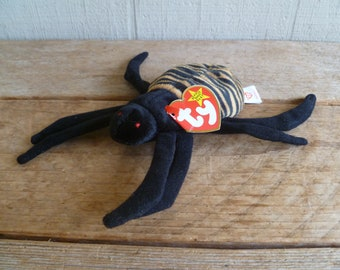 "TY Beanie Babies Plush Spider  ""Spinner""   with Tags 1997"