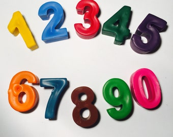 Number Crayons! Party favors. Counting