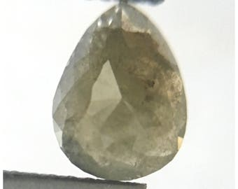 0.81 Carat Pear shape 7.65 mm X 5.95 mm Brownish Grey natural Rose cut loose conflict free diamonds use for Jewelry