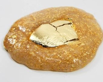 Gold Rush Slime-handmade