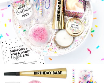 Birthday Gifts For Her - Birthday Gift - White Confetti - Happy Birthday - Birthday Gift Box - Birthday Box - Birthday for Her - Custom Gift