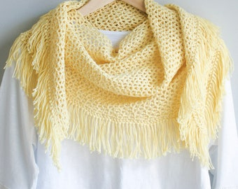 Boho Crochet Pattern ~ Festival Fringe Scarf ~ Boho Clothing