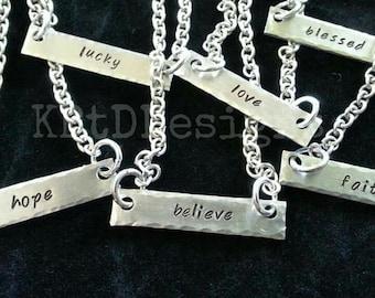 Inspirational Bar Necklace