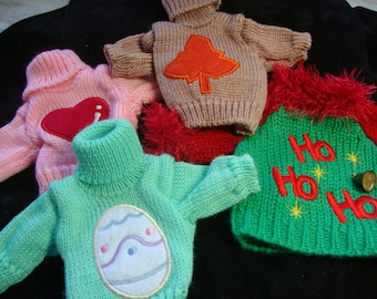 Bear Holiday Sweaters Set of 4