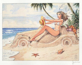 "10 prints loose from the portfolio ""Women of Milo Manara"" Made in Italy"