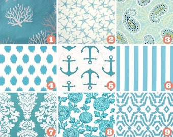 Nautical Anchor/Coastal Blue Bed Runner Bed Scarf/King/Queen/Full/Twin, Premier Prints Anchor/Coral/Star/Floral, Choose Size, Holiday Decor