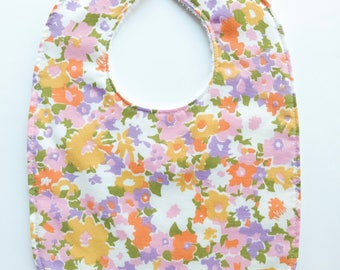 Baby Bib - Baby Girl Accessories - Vintage Baby - Floral Baby Bib - Vintage Fabric - New Baby Gift - Baby Shower Gift - Toddler Bib