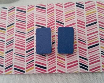 Royal blue statement stud earrings