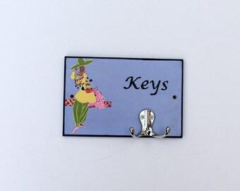 Wall key holder, key hanger, wall key rack, personalized key holder, housewarming gift