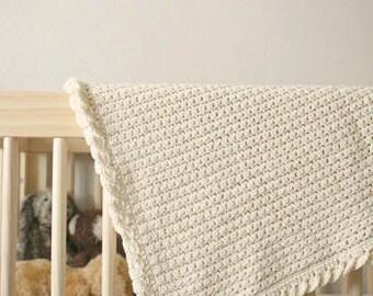 Pure Love Crochet Baby Blanket Pattern - beginner baby blanket pattern - crochet baby blanket pattern - summer baby blanket