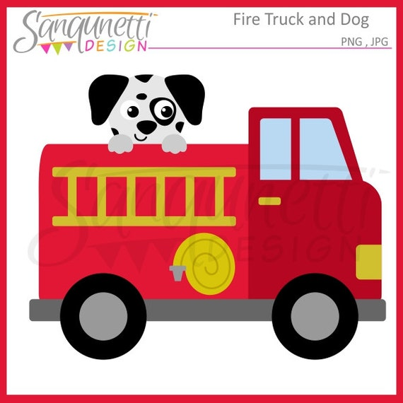 fire truck clipart transportation clipart dalmatian clipart rh etsy com