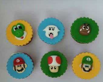 Super Mario inspired Cupcake toppers