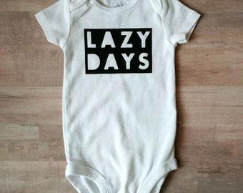 Lazy Days baby onesie
