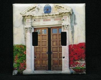 Double Switchplate Cover - Doorway at Villa Monastero