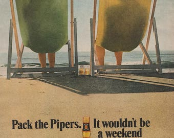 Vintage Pipers Scotch Beach Ad