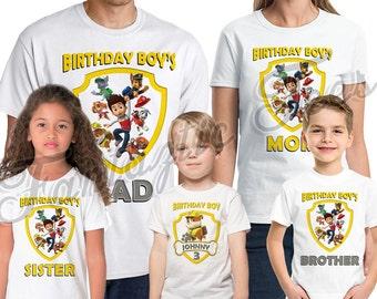 Paw Patrol Rubble Birthday Shirt Add Name & Age Custom  Paw Patrol Birthday Party TShirt 10