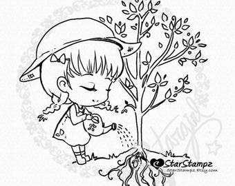 Little Seedling DIGITAL STAMP Instant Download