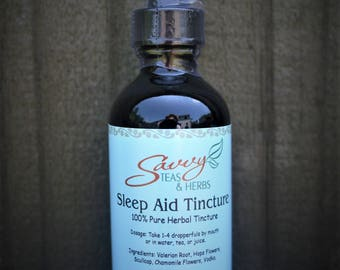 Sleep Aid Herbal Tincture 2 oz.  100% Pure For Insomnia