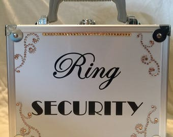 Gold Bling Wedding Ring Security Briefcase