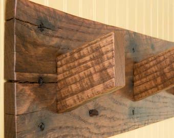 reclaimed wood mug rack urban rustic. Rustic Wood Coat Rack, Hall Organizer, Pallet Reclaimed Mug Rack Urban