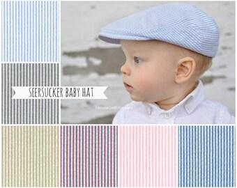 Baby newsboy hat, baby newsboy cap, baby flat cap, toddler newsboy cap, pageboy, newsie, scally cap, golf cap, driving cap - made to order
