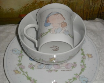 Child's Dish Set-Plate, Bowl, and Cup