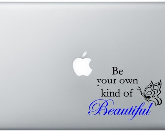 Own Kind of Beautiful Quote Laptop Decal