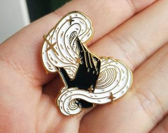 Magic - B&W Gold Soft Enamel Pin