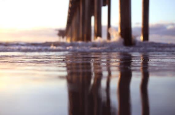 Pier photo beach print la jolla california art purple sunset reheart Image collections